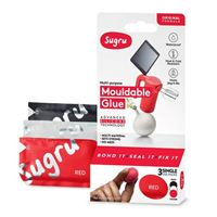 Sugru Mouldable Glue - Original Formula 3 pack - White, Black, and Red