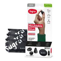 Sugru Mouldable Glue - Family-Safe Skin-Friendly Formula 3 pack - Black