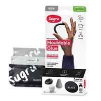Sugru Mouldable Glue - Family-Safe Skin-Friendly Formula 3 pack - Black, White and Gray