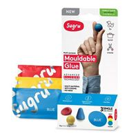 Sugru Mouldable Glue - Family-Safe Skin-Friendly Formula 3 pack - Red, Yellow and Blue