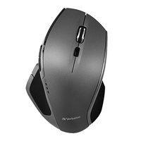 Verbatim Wireless Desktop 8-Button Deluxe Blue LED Mouse - Graphite