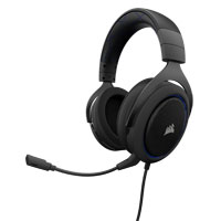Corsair HS50 Stereo Gaming Headset - Black/Blue