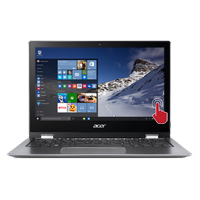 "Acer Spin 1 SP111-32N-P0QE Touch 11.6"" 2-in-1 Laptop Computer - Gray"
