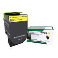 Lexmark 71B10Y0 Yellow Toner Cartridge