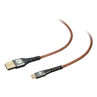 Tough Tested PRO Armor Weave with Slim Tip Micro USB Cable 8 Ft. - Brown