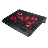 Accessory Power ENHANCE Gaming Laptop Cooling Pad Stand with LED Cooler Fans - Red