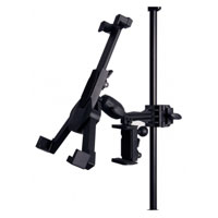 On-Stage Stands Phone/ Tablet Clamp Mount Phone Holder- Black