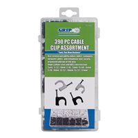 Grip Cable Clip Assortment 390 Pieces