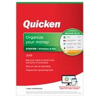 Quicken, Inc. Starter 2019 - 1 Year (PC)