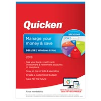 Quicken, Inc. Deluxe 2019 - 1 Year (PC & Mac)