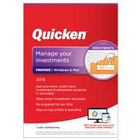 Quicken, Inc. Premier 2019 - 1 Year (PC and Mac)