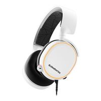SteelSeries Arctis 5 7.1 Surround Sound RGB Gaming Headset - White (2019 Edition)