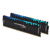 HyperX Predator RGB 16GB 2 x 8GB DDR4-3200 PC4-25600 CL16 Dual Channel Desktop Memory Kit 740617283877 - Black