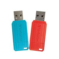 Verbatim 64GB PinStripe USB Flash Drive 2 Pack