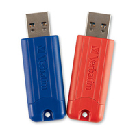 Verbatim Verbatim 32GB PinStripe USB 3.1 Flash Drive 2 Pack
