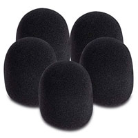 On-Stage Stands Black Windscreen (5-Pack)