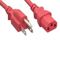 Micro Connectors 6 ft. Computer Power Cord - Red