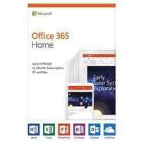 Microsoft Office 365 Home - 1 Year, Up to 6 Users