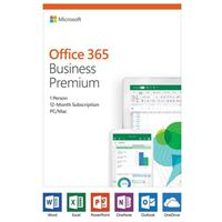 Microsoft Office 365 Business Premium - 1 User, 1 Year (PC/MAC)