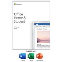 Microsoft Office Home and Student 2019 Windows 10 PC/Mac Key Card - 1 Device