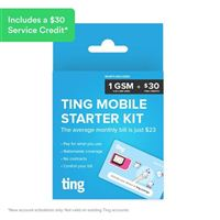 Ting Bring Your Own Phone Sim Kit GSM compatible No Contract Includes $30 Service Credit