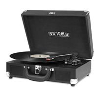 Victrola Bluetooth Suitcase Record Player with 3-speed Turntable - Black