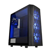 Thermaltake Versa J24 RGB Tempered Glass ATX Mid-Tower Computer Case - Black