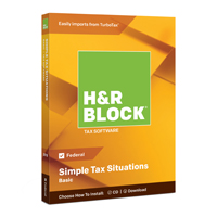 Block Financial Software H&R Block Tax Software Basic 2018