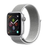 Apple Watch Series 4 GPS/Cellular 40mm Silver Aluminum Smartwatch - Seashell Sport Band