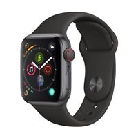 Apple Watch Series 4 GPS/Cellular 40mm Space Gray Aluminum Smartwatch - Black Sport Band