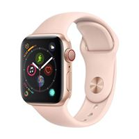 Apple Watch Series 4 GPS/Cellular 40mm Gold Aluminum Smartwatch - Pink Sand Sport Band