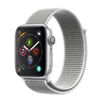 Apple Watch Series 4 GPS/Cellular 44mm Silver Aluminum Smartwatch - Seashell Sport Band