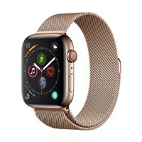 Apple Watch Series 4 GPS/Cellular 44mm Gold Stainless Steel Smartwatch - Gold Milanese Loop Band