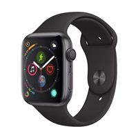 Apple Watch Series 4 GPS 44mm Space Gray Aluminum Smartwatch - Black Sport Band