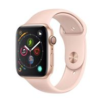 Apple Watch Series 4 GPS 44mm Gold Aluminum Smartwatch - Pink Sand Sport Band