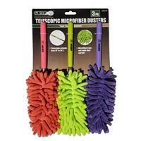 Grip Telescopic Microfiber Dusters - 3 pack