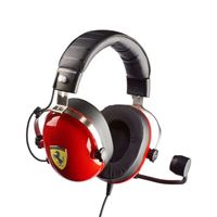 Thrustmaster T.Racing Scuderia Ferrari Edition Wired Gaming Headset w/ On-Ear Volume Control Knob, Memory Foam Ear Pads, Unidirectional Noise-Cancelling Microphone