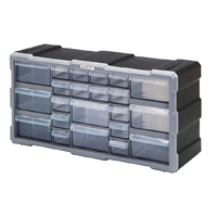 Quantum Storage Systems Plastic Drawer Cabinet - 22 Drawers