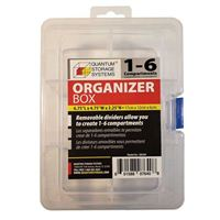 Quantum Storage Systems Storage Box with Removable Dividers - 6 Compartments