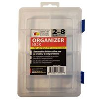 Quantum Storage Systems Storage Box with Removable Dividers - 8 Compartments