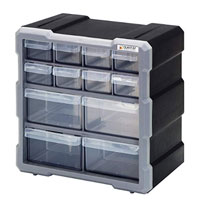 Quantum Storage Systems Plastic Drawer Cabinet - 12 Drawers