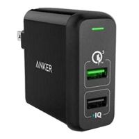 Anker PowerPort 2 w/ QC 3.0 - Black