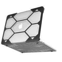 iBenzer HexPact Case for Macbook Pro 13 2016/2018 with Retina Display - Clear/Black