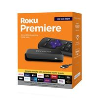Roku Premiere Streaming Media Player, HD/4K/HDR, Simple Remote, Includes Premium HDMI Cable
