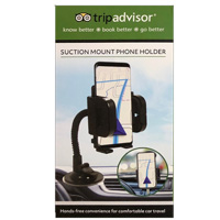 TripAdvisor Grip Clip Suction Dashboard/ Windshield Phone Mount - Black
