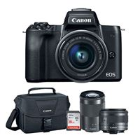 Canon EOS M50 Mirrorless Camera with 15-45mm and 55-200mm Lenses