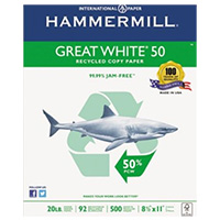 Hammermill Great White 50% Recycled Copy Paper