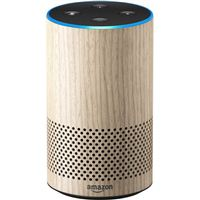 Amazon Echo Smart Speaker, 2nd Generation - Light wood