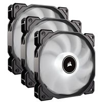 Corsair AF120 White LED Hydraulic Bearing 120mm Case Fan - Triple...