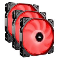 Corsair AF120 Red LED Hydraulic Bearing 120mm Case Fan - Triple Pack